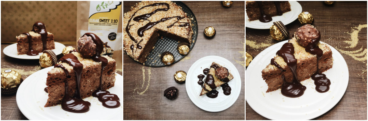 Ferrero Rocher cake - healthy version