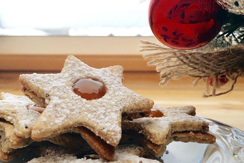 Božični piškoti - linški piškoti
