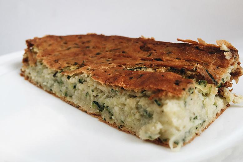 bučkin kolač z mandljevo in pirino moko
